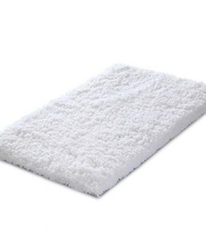 KMAT 20x32 Inch White Bath Mat Soft Shaggy Bathroom Rugs Non Slip Rubber Shower Rugs Luxury Microfiber Washable Bath Rug For Floor Bathroom Bedroom Living Room 0 300x360