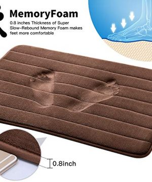 KMAT Bathroom Rugs Bath Mats For Bathroom Luxury Soft Non Slip Memory Foam 3 PCS Mats SetU Shaped 20x24 Toilet Mat30x20 Shower Mat17x47 Bath Mat Absorbent Bath Rugs Machine Washable 0 0 300x360