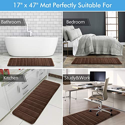 KMAT Bathroom Rugs Bath Mats For Bathroom Luxury Soft Non Slip Memory Foam 3 PCS Mats SetU Shaped 20x24 Toilet Mat30x20 Shower Mat17x47 Bath Mat Absorbent Bath Rugs Machine Washable 0 4