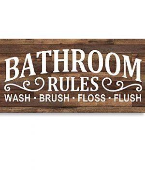Framed Bathroom Laundry Room Decor