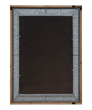 Kate And Laurel Deely Farmhouse Wood And Metal Wall Mirror Rustic Brown 0 2 300x360