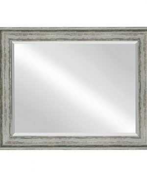 Kate And Laurel McKinley Framed Wall Vanity Beveled Mirror 225x285 Distressed Blue Green 0 0 300x360