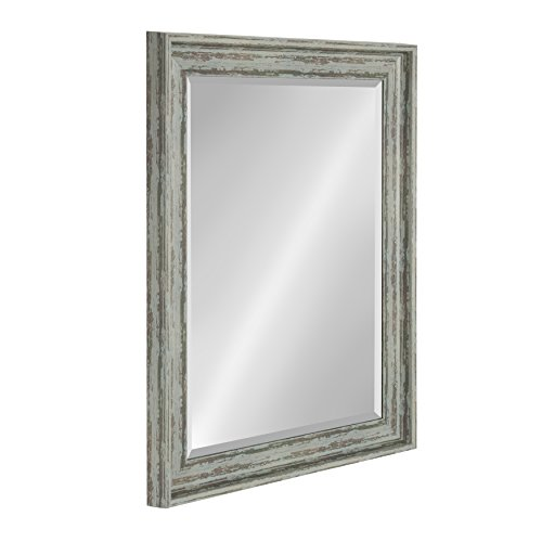 Kate And Laurel McKinley Framed Wall Vanity Beveled Mirror 225x285 Distressed Blue Green 0 1