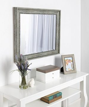 Kate And Laurel McKinley Framed Wall Vanity Beveled Mirror 225x285 Distressed Blue Green 0 4 300x360