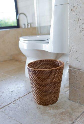 Kouboo 1030011 Round Rattan Waste Basket 1025 X 1025 X 11 Honey Brown 0 0