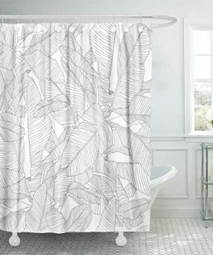 Ameritex Ruffle Shower Curtain Home DecorSoft Polyester Decorative Bathroom