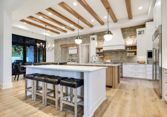 Lakeway Custom Farmhouse Kitchen by Arbogast Custom Homes