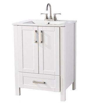 LifeSky Modern Bathroom Vanity 23 2 Doors 1 Drawer White 0 300x360