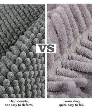 Lifewit Bath Runner Rug Chenille Area Mat Rugs For Bathroom Kitchen Entryway Bedroom Machine Washable Water Absorbent With Non Slip Rubber Collection Shag Rug 22 X 511 Grey 0 3 300x360