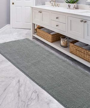 """lifewit bath runner rug 26""""×71"""" chenille area mat rugs for"""