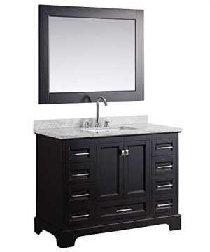 Luca Kitchen Bath LC48JEW Chole 48 Single Sink Bathroom Vanity Set In Espresso With Carrara Marble Top And Mirror 0 300x360