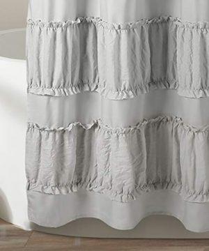 Lush Decor Gray Nova Ruffle Shower Curtain 72 X 72 0 2 300x360