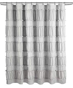 Lush Decor Gray Nova Ruffle Shower Curtain 72 X 72 0 4 300x360