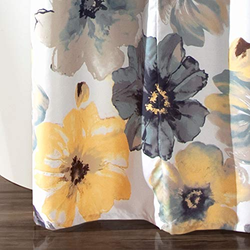 Lush Decor Leah Shower Curtain Bathroom Flower Floral Large Blooms Fabric Print Design 72 X 72 YellowGray 0 2