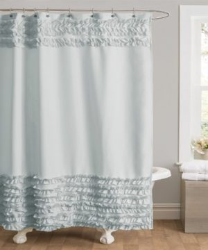 Lush Decor Skye Shower Curtain Blue 0 300x360