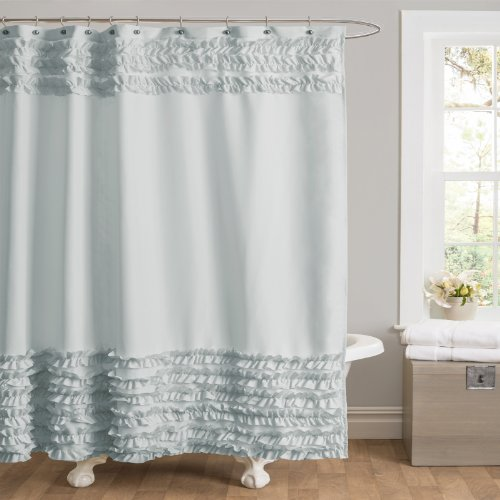 Lush Decor Skye Shower Curtain Blue 0