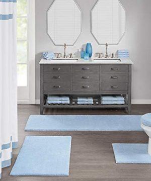 MADISON PARK SIGNATURE Marshmallow Bath Rug 24x72 Blue 0 300x360