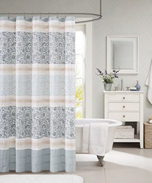 Madison Park MP70 2493 Dawn Cotton Shower Curtain 72x72 Blue 0 300x360
