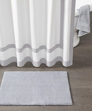 Madison Park Signature Marshmallow Quick Dry Non Slip Absorbent Ultra Soft Bath Mat Bathroom Rugs 24X72 Inches Grey 0 0 300x360