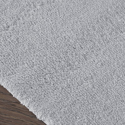 Madison Park Signature Marshmallow Quick Dry Non Slip Absorbent Ultra Soft Bath Mat Bathroom Rugs 24X72 Inches Grey 0 1