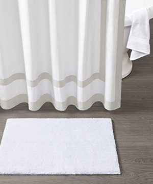 Madison Park Signature Marshmallow Quick Dry Non Slip Absorbent Ultra Soft Bath Mat Bathroom Rugs 24X72 Inches White 0 0 300x360