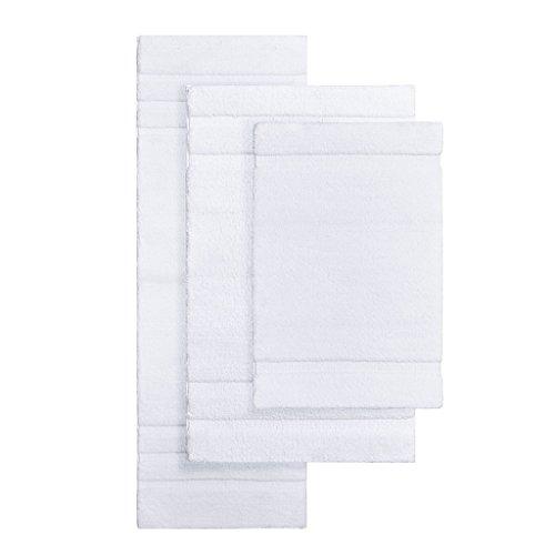 Madison Park Signature Stria Solid Tufted Microfiber Soft Absorbent Non Slip Quick Dry Bath Mat Bathroom Rugs 24x40 White 0 1