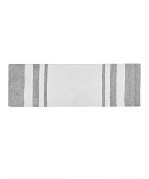 Madison Park Spa Reversible Cotton Bath Mat Casual Striped Water Absorbent Bathroom Rugs 24X72 Grey 0 0 300x360
