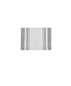 Madison Park Spa Reversible Cotton Bath Mat Casual Striped Water Absorbent Bathroom Rugs 24X72 Grey 0 4 300x360