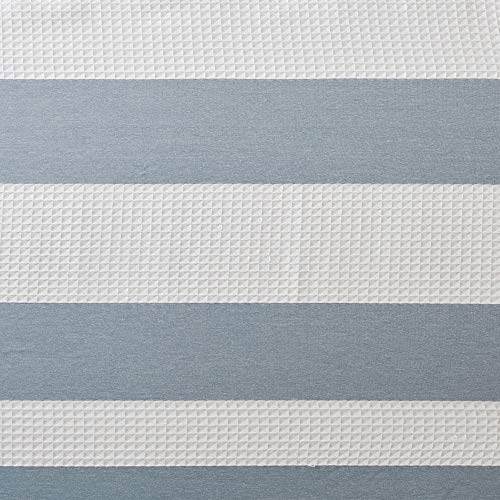 Madison Park Spa Waffle Weave Striped Fabric Classic Shower Curtains For Bathroom 72 X 84 Blue Tall 72x84 0 3