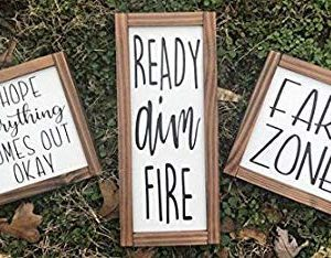 Mao Ready Aim Fire Hope Everything Comes Put Okay Fart Zone Bathroom Set Bathroom Farmhouse Wood Signs Wood Signs Bathroom Humor 839402 0 300x234