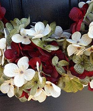 Marbled Hydrangea Christmas Wreath For Holiday Front Door Decor 0 1 300x360