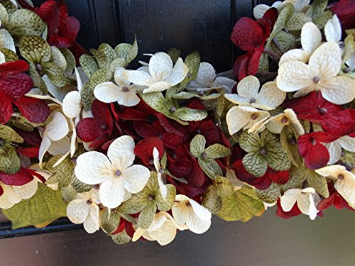 Marbled Hydrangea Christmas Wreath For Holiday Front Door Decor 0 1