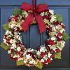 Marbled Hydrangea Christmas Wreath For Holiday Front Door Decor 0 100x100