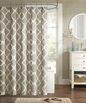 Merritt Design Pattern Modern Fabric Shower Curtain Simple Geometric Casual Shower Curtains For Bathroom 72 X 84 Taupe 0 300x360