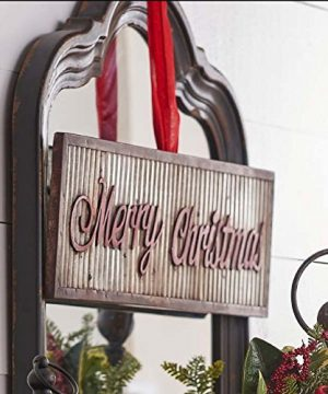 Merry Holiday Sign Metal Rustic Wall Sign Magnolia Style Christ Mas 0 0 300x360