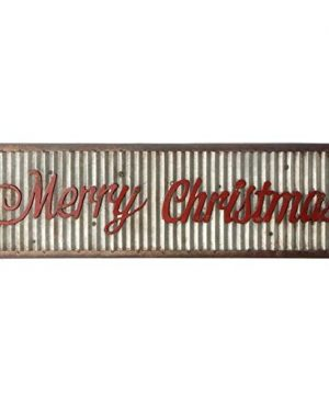 Merry Holiday Sign Metal Rustic Wall Sign Magnolia Style Christ Mas 0 300x360