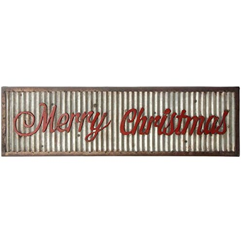 Merry Holiday Sign Metal Rustic Wall Sign Magnolia Style Christ Mas 0