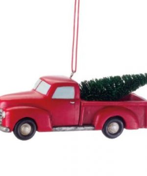 Midwest CBK 4 Inch Pickup Truck With Tree Ornament 0 300x360
