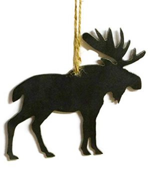Moose Wildlife Metal Christmas Ornament Tree Stocking Stuffer Party Favor Holiday Decoration Raw Steel Gift Recycled Nature Home Decor 0 300x360