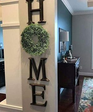 NAHUAA Boxwood Wreath For Front Door Decor 17 Inches Artificial Greenery Wreath Farmhouse Garland Home Office Housewarming Gift Greenery Decorations 0 2 300x360