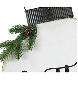 NIKKY HOME 15 X 22 Wood Round Christmas Hanging Wall Sign Plaque With Pine Branches And Pine Cone Decor Gather 0 2 300x360