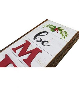 NIKKY HOME 9 X 32 Rustic Be Merry Vertical Wood Wall Plaque Sign For Christmas Holiday Front Door Porch Decor 0 1 300x360