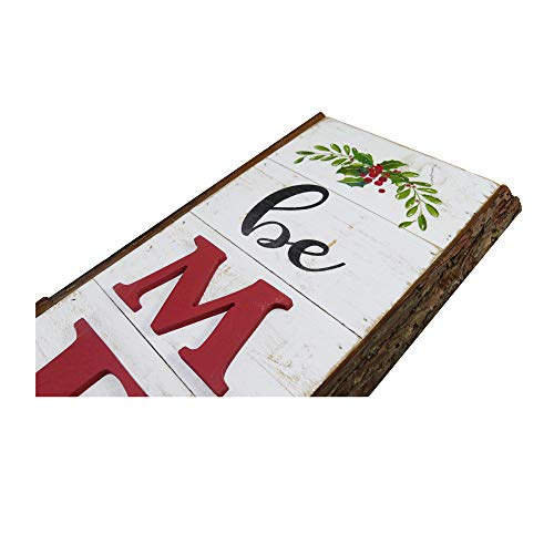 NIKKY HOME 9 X 32 Rustic Be Merry Vertical Wood Wall Plaque Sign For Christmas Holiday Front Door Porch Decor 0 1