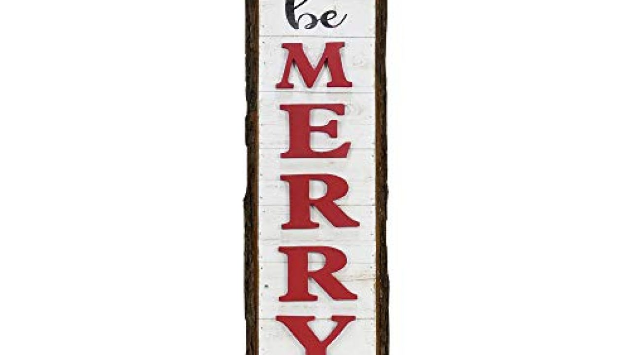 NIKKY HOME Wooden Wall Rustic Decorative Sign Plaque