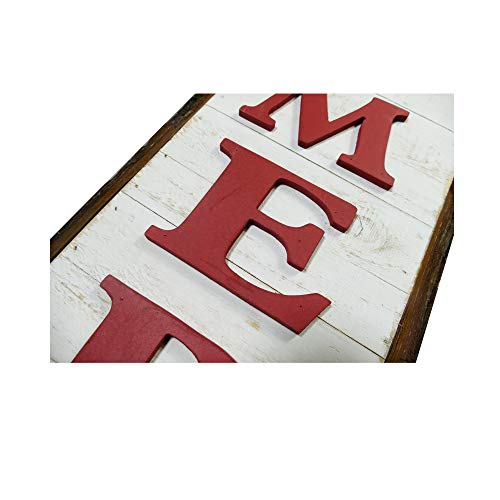 NIKKY HOME 9 X 32 Rustic Be Merry Vertical Wood Wall Plaque Sign For Christmas Holiday Front Door Porch Decor 0 3