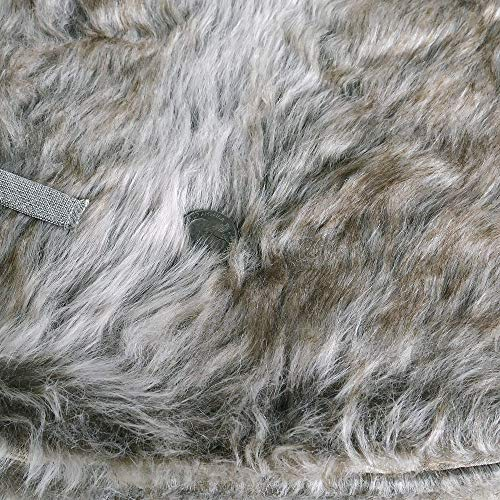 NIKKY HOME Luxury Grey Flannel Christmas Tree Skirt Holiday Ornaments 36 Inch 0 2
