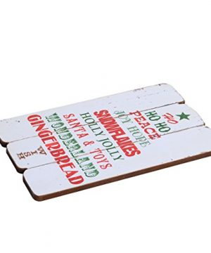 NIKKY HOME Rustic Christmas Wish Wooden Wall Decorative Sign 787 X 063 X 1187 Inches 0 4 300x360