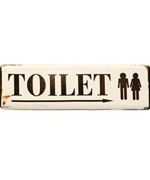 NIKKY HOME Vintage Rustic Toilet Door Sign Wall Plaque Sign 12 In By 312 In 0 300x360