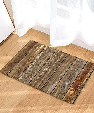 NYMB Rustic Wood Decor Vertical Barn Wooden Wall Planking Texture Bath Rugs Non Slip Doormat Floor Entryways Indoor Front Door Mat Kids Bath Mat 157x236in Bathroom Accessories 0 300x360