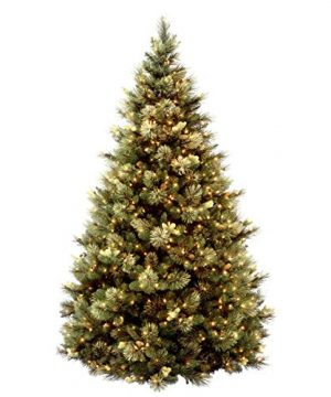 National Tree 75 Foot Carolina Pine Tree With Flocked Cones And 750 Clear Lights Hinged CAP3 306 75 0 0 300x360